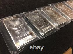 1 Sunshine Minting Ten Ounce SILVER BAR withMint Mark. 999 Fine Silver