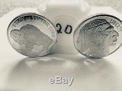 1 oz Sunshine Buffalo SMI Silver Round New, Mint Mark SI -Lot of 20