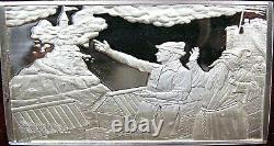 14.6 oz. 925 Fine Silver Franklin Mint Rockwell Mark Twain Ingots Proofs CH5153