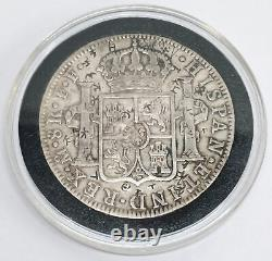 1778 Spanish Colonial 8 Reale 90% Silver Coin Mexico Minted with Chop Marks