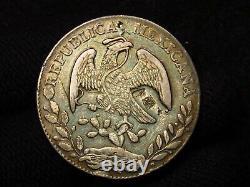 1869 Mexico Ho P. R. 8 Reales HERMOSILLO MINT CHOP MARKS