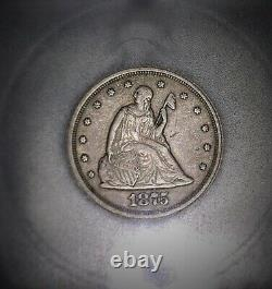 1875-S Twenty Cent Piece. ICG EF40RPM. Repunched Mint Mark. Issue Free