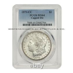 1879-CC $1 Silver Morgan PCGS MS64 Capped Die mintmark Carson City dollar coin