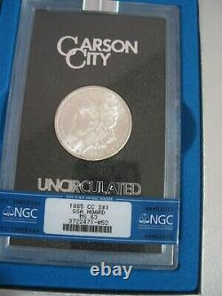 1885 CC GSA Morgan Silver Dollar BLAST WHITE Tilted CC mint mark