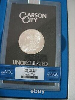 1885 CC GSA Morgan Silver Dollar BLAST WHITE Tilted CC mint mark! NGC MS 63