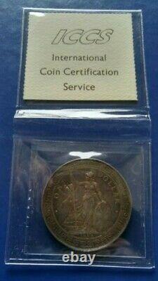 1899-B GREAT BRITAIN Trade Dollar Silver Bombay mint (chop mark) ICCS EF-40