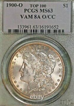 1900-O/CC Morgan $1 PCGS MS63 VAM 8A! O stamped over CC mintmark! Great Luster