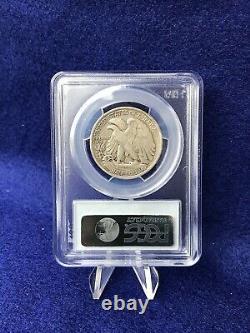 1917-D OBVERSE MINT MARK WALKING LIBERTY HALF DOLLAR 50c PCGS F12 FINE