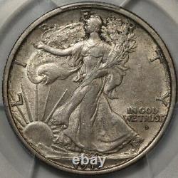 1917-D Obverse Mint Mark Walking Liberty Half Dollar PCGS AU-55