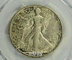 1917-D Obverse Mint Mark Walking Liberty Half Dollar PCGS AU58