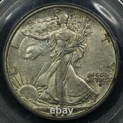 1917 D Obverse Mint Mark Walking Liberty Silver Half Dollar PCGS AU 55