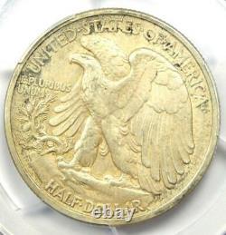 1917-D Walking Liberty Half Dollar 50C with Obverse Mintmark PCGS AU Details