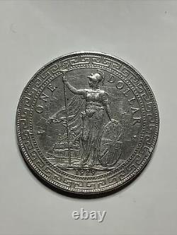 1929B Great Britain Silver British Trade Dollar Coin KM-T5 Bombay Mint Mark