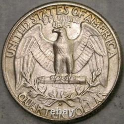 1932 D/d Washington Silver Quarter Very Rare Appealing Key RPM Repunch Mint Mark