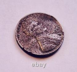 1943-P (No Mint Mark) 1c Lincoln Silver Steel Wheat Penny WWII Wartime Cent