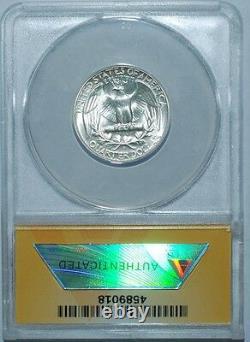 1947 S/S FS-501 ANACS MS66 Washington Quarter RPM-001 Repunched Mint mark