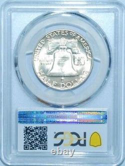 1950 D/D PCGS MS64FBL FS-501 RPM Repunched Mint Mark Franklin Half Dollar