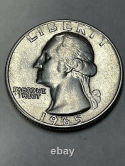1965 Quarter no mint mark