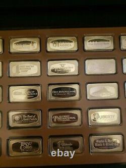 1971 Franklin Mint Bank Marked 50 States Complete Set of Sterling Silver Ingots