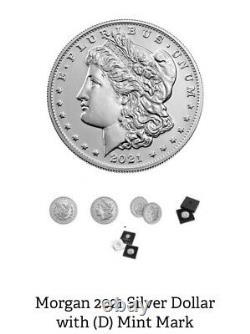 2 Coins! Morgan 2021 Silver Dollar, one with (S) and (D) Mint Mark Confirmed