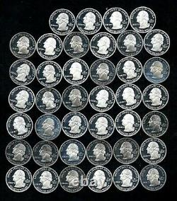 2004-09 Proof State Quarter Roll 90% Silver (40 Coins) Handling Marks Lot B42