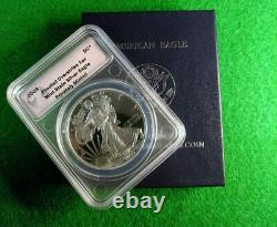 2009 Silver Eagle Proof Overstrike Dan Carr DC Mintmark