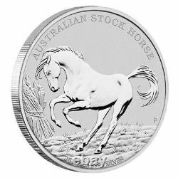 2017 $1 The Australian Stock horse 1oz Silver Coin P mintmark