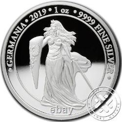 2019 Germania 5 Mark 1 Oz Silver Proof Coin Brilliant Uncirculated