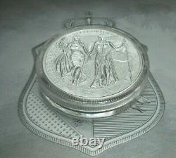 2019 Germania Mint 10 Mark Allegories Columbia 2 oz. 999 Silver Coin Boxed / COA