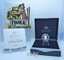 2020 $1 Proof Eureka Australia's Gold Rush C Mintmark Gold Plated Silver Coin