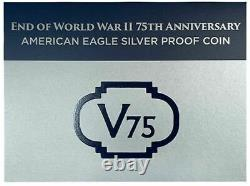 2020 W US Mint Proof End of WWII V75 American Silver Eagle V75 Privy Mark with C
