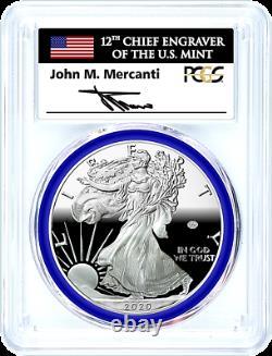 2020-w Mint Engraver-privy Mark-silver Eagle-pcgs Pr70-fdoi-mercanti-pop 125