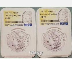 2021 Morgan Silver Dollar CC & O Privy Mint marks, EARLY RELEASE