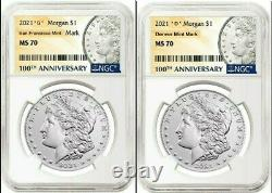 2021 Morgan Silver Dollar NGC MS 70' S' &' D' Mint Mark PreSale
