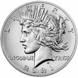 2021 Peace Silver Dollar Minted in Philadelphia no Mint Mark COA/OGP PRESALE