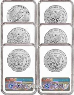 2021 (p) Peace & Morgan's CC & O Privy S & D & P Mint Mark 6 Coin Set Fdoi Hot