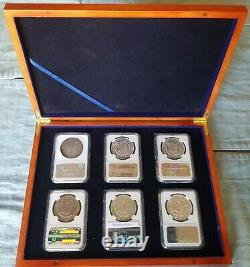 2021 (p) Peace & (p) CC & O Privy S & D Mint Mark Morgan's Complete 6 Coin Set