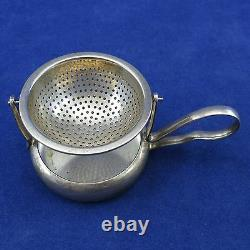 3 WMF Vintage Lot TEA STRAINERS with DRIP CUPS Silverplate ALEMANIA C. E. A. S. Mark