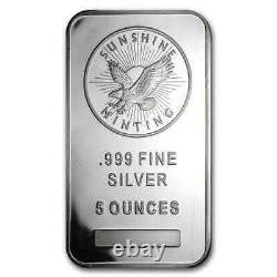 5 oz Silver Bar Sunshine (MintMark SI) SKU #83067