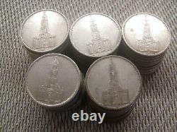 50 x 5 Reichsmark Silber 695 g lot Investorenpaket Garnisionskirche With21/61