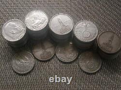 54 x 5 Reichsmark Silber 750 g lot Investorenpaket gemischte Stk With21/457