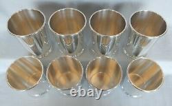 8 Mark J Scearce, Sterling President Johnson LBJ, Mint Julep Cups & Shot-jigger