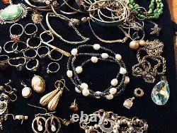925 Sterling Marked Vintage/new Jewelry Lot To Wear/scrap 448.8g