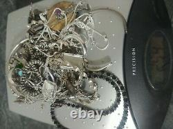 925 sterling silver Lot Scrap 254 grams total weight see photo all marked/tested