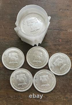 A-MARK LIBERTY 1 OUNCE SILVER ROUNDS-LOT OF 5 Each CONUS Shipping Included