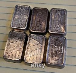 A-Mark USVI 1oz. 999 Silver Stackers Chunky Art Bars/Ingots Lot of (6) J05