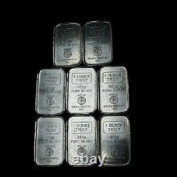 A-Mark USVI 1oz. 999 Silver Stackers Chunky Art Bars/Ingots Lot of (8)