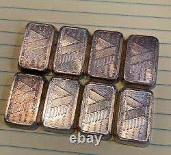 A-Mark USVI 1oz. 999 Silver Stackers Chunky Art Bars/Ingots Lot of (8) J02