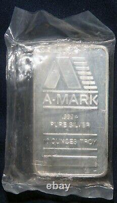A-mark 10 Oz. 999+ Silver Bar Lot 050306