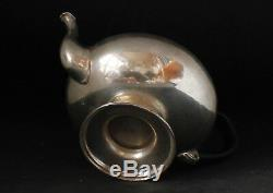 Antique Solid Silver German Tea Pot Teapot 13 Lot Mark c. Mid-1800s